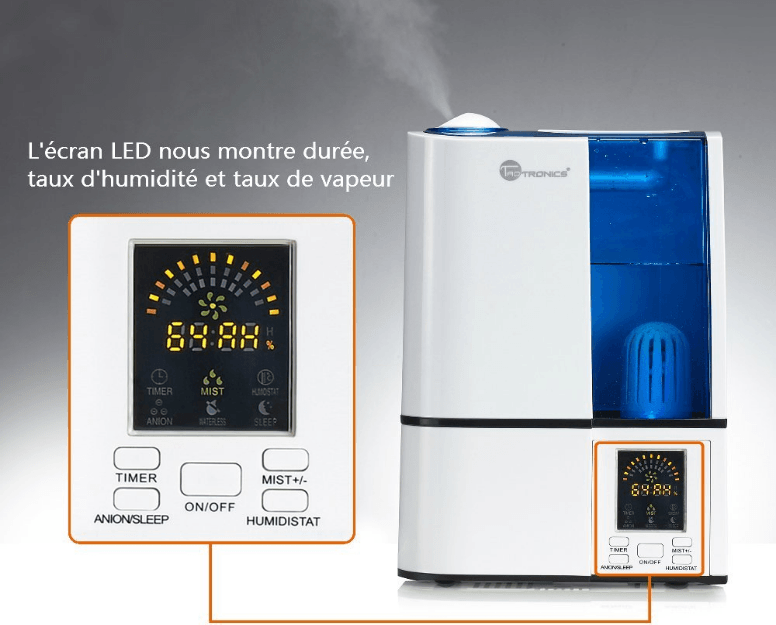Humidificateur ultrasonique TaoTronics 2